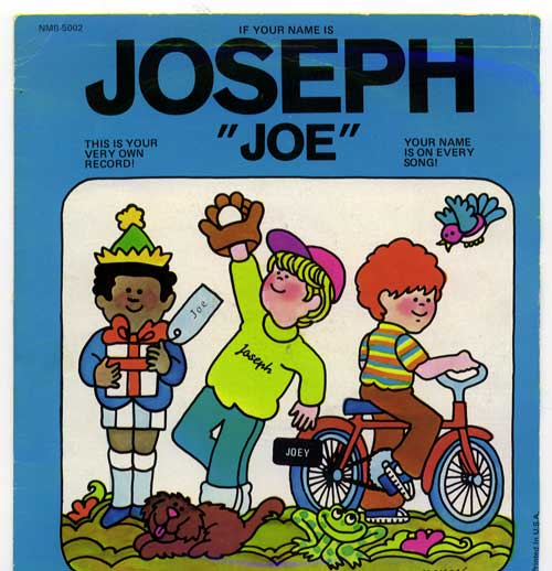 "Captain Kangaroo Name Record ""Joseph"" Front Cover"