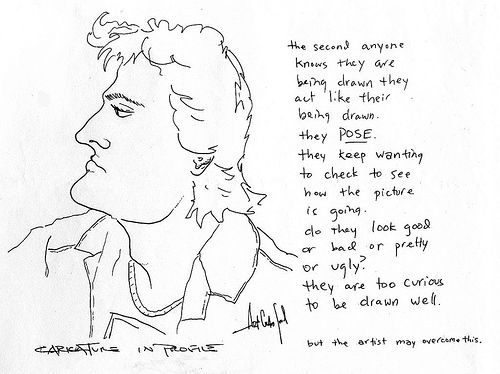 Caricature in Profile (Portrait, Design Class, 1988)