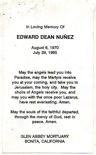 Edward Dean Nunez, 1970-1995