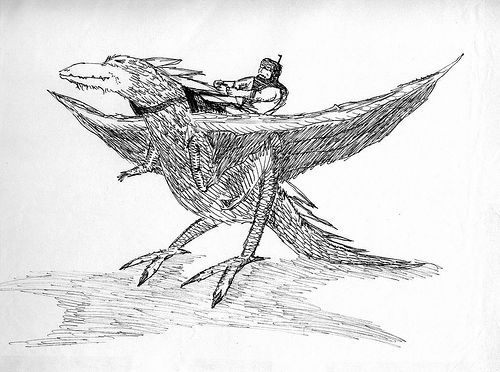 Winged and Saddled Creature, 1986