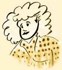 Polka Dot Big Hair Girl, 1987