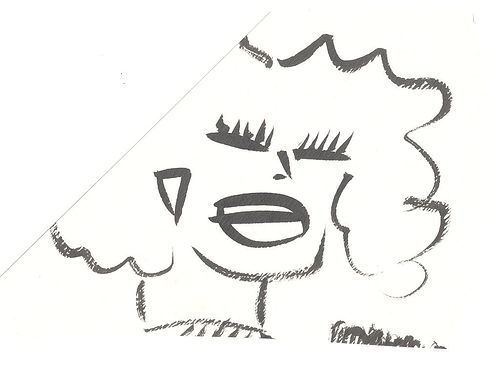 Squinty Big Hair Girl (fragment), 1988