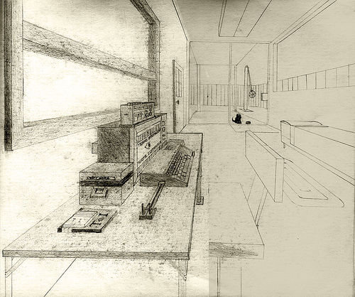 Perspective Study My Room, 1983