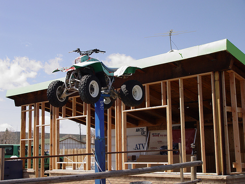 ATV on a Pillar