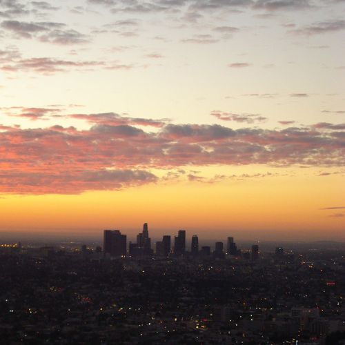 Mack Reed's Photo of Downtown Los Angeles from Griffith Park Observatory