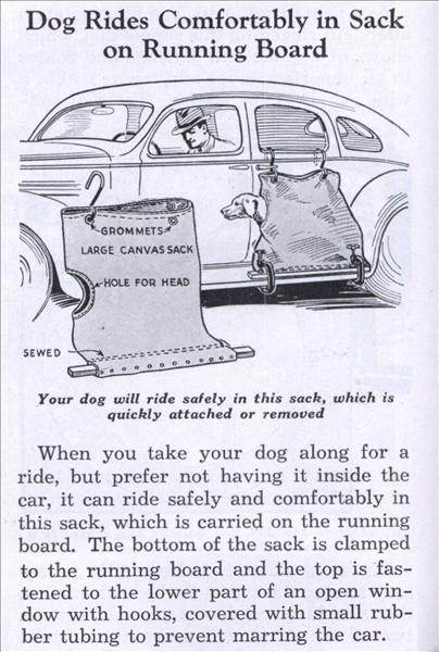Dog Car Side Saddle