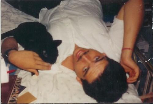 Joe and Taz, circa 1989, 1990