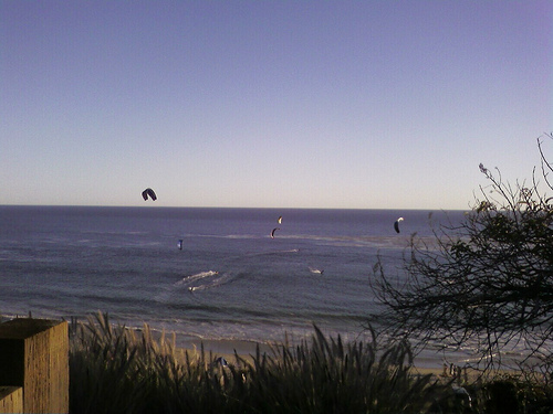Kiteboarders just south of la county line