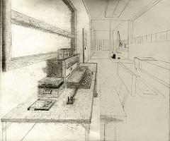 Perspective Study My Room, 1983