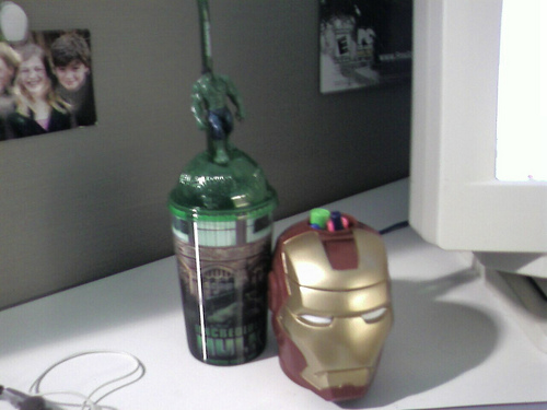 Hulk Cup and Iron Man cup like ebony and ivory