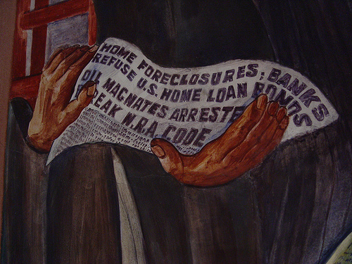 Home Foreclosures; Banks Refuse U.S. Home Loan Bonds. Oil Magnates Arrested; Break N.R.A. Code