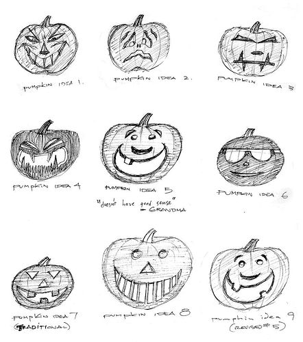 Halloween Pumpkin Designs, 1987