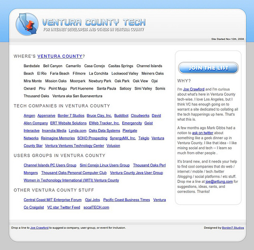 Ventura County Tech.com: Design by Border7
