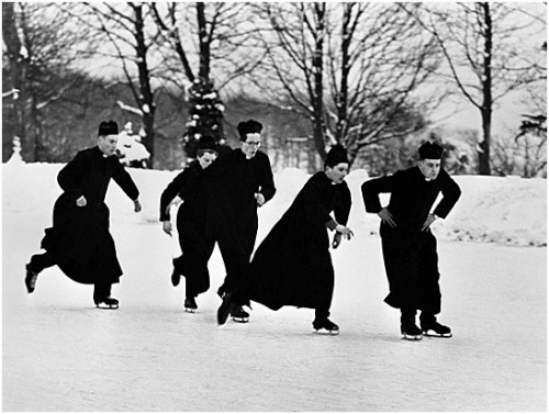 Priests with their skates on, 1966, Arthur Steel