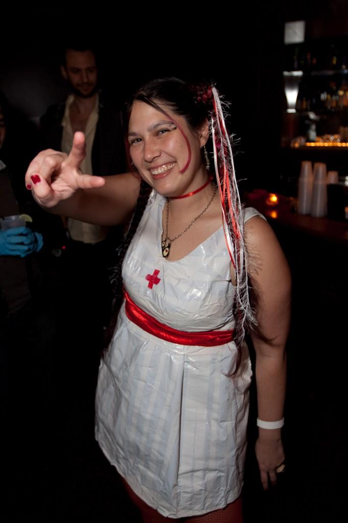 pinguino duct tape dress