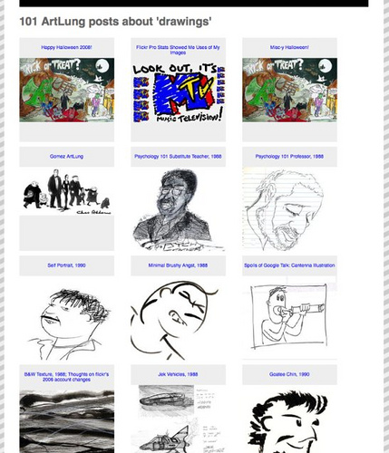 "New page for my ""drawings"" tag archive in wordpress -- DETAIL"