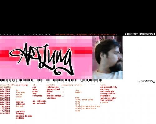 ArtLung.com / Splash / January 14, 2002