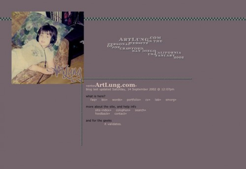 ArtLung.com / Splash / January 30, 2002