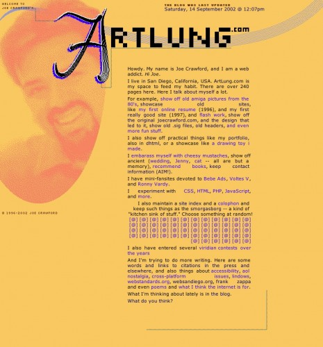 ArtLung.com / Splash / August 6, 2002