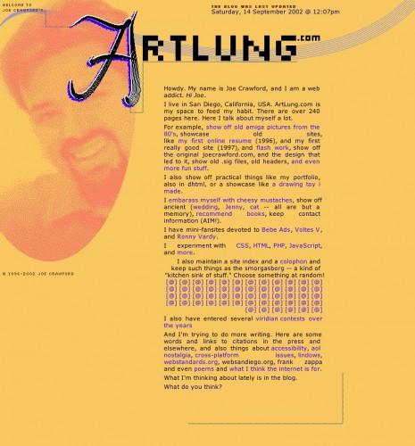 ArtLung.com / Splash / August 6, 2002