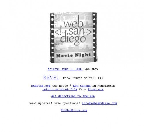WebSanDiego: Movie Night 2001
