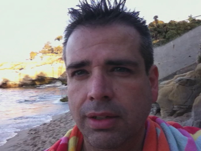 La Jolla Cove (after .46 mile swim)