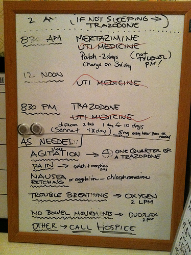 Medication Board for Grandma