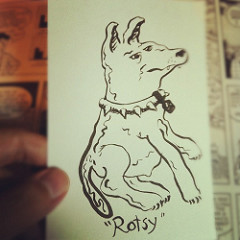 "Tonight's @artlung toon I named ""Rotsy"""