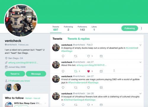 Ventcheck Twitter Bot