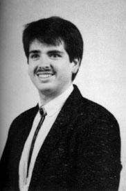 Joe, in bolo tie, respiratory school picture, circa 1991