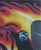 Hot Rod Fender Study--airbrush painting